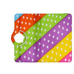 Colorful Easter Ribbon Background Kindle Fire HDX 8.9  Flip 360 Case