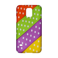 Colorful Easter Ribbon Background Samsung Galaxy S5 Hardshell Case