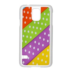 Colorful Easter Ribbon Background Samsung Galaxy S5 Case (White)