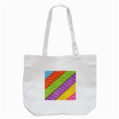 Colorful Easter Ribbon Background Tote Bag (White)
