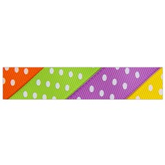 Colorful Easter Ribbon Background Flano Scarf (small)