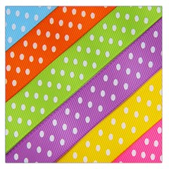 Colorful Easter Ribbon Background Large Satin Scarf (Square)