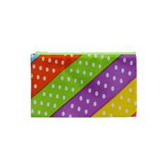 Colorful Easter Ribbon Background Cosmetic Bag (xs)