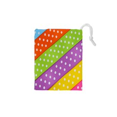 Colorful Easter Ribbon Background Drawstring Pouches (xs)