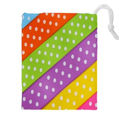 Colorful Easter Ribbon Background Drawstring Pouches (xxl)