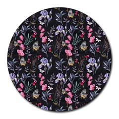 Wildflowers I Round Mousepads