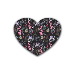 Wildflowers I Rubber Coaster (heart)