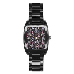 Wildflowers I Stainless Steel Barrel Watch