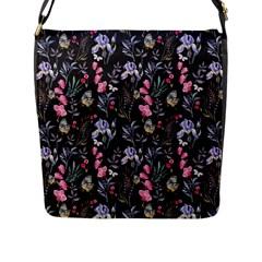Wildflowers I Flap Messenger Bag (l)