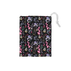 Wildflowers I Drawstring Pouches (small)