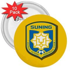 Jiangsu Suning F.C. 3  Buttons (10 pack)