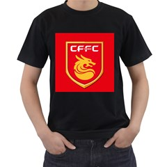Hebei China Fortune F.C. Men s T-Shirt (Black) (Two Sided)