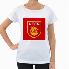 Hebei China Fortune F.C. Women s Loose-Fit T-Shirt (White)