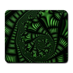 Fractal Drawing Green Spirals Large Mousepads