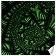 Fractal Drawing Green Spirals Canvas 12  X 12