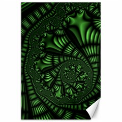 Fractal Drawing Green Spirals Canvas 20  X 30