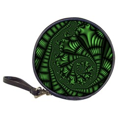 Fractal Drawing Green Spirals Classic 20 Cd Wallets