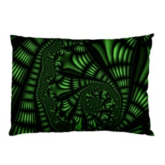 Fractal Drawing Green Spirals Pillow Case (Two Sides)