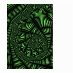 Fractal Drawing Green Spirals Small Garden Flag (Two Sides)