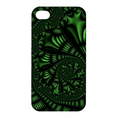 Fractal Drawing Green Spirals Apple iPhone 4/4S Premium Hardshell Case