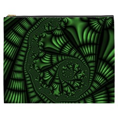 Fractal Drawing Green Spirals Cosmetic Bag (XXXL)