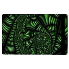 Fractal Drawing Green Spirals Apple iPad 2 Flip Case