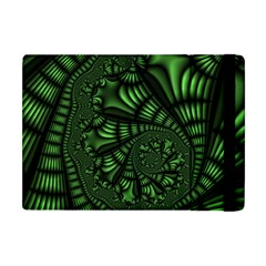 Fractal Drawing Green Spirals Apple iPad Mini Flip Case