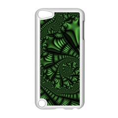 Fractal Drawing Green Spirals Apple iPod Touch 5 Case (White)