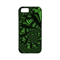 Fractal Drawing Green Spirals Apple iPhone 5 Classic Hardshell Case (PC+Silicone)