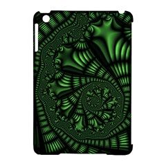 Fractal Drawing Green Spirals Apple iPad Mini Hardshell Case (Compatible with Smart Cover)