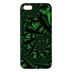 Fractal Drawing Green Spirals Apple iPhone 5 Premium Hardshell Case