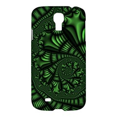 Fractal Drawing Green Spirals Samsung Galaxy S4 I9500/I9505 Hardshell Case