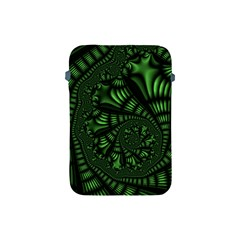 Fractal Drawing Green Spirals Apple iPad Mini Protective Soft Cases