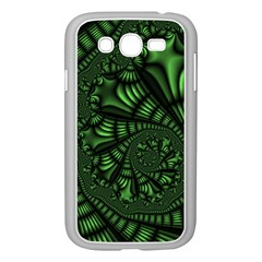 Fractal Drawing Green Spirals Samsung Galaxy Grand DUOS I9082 Case (White)