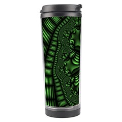 Fractal Drawing Green Spirals Travel Tumbler