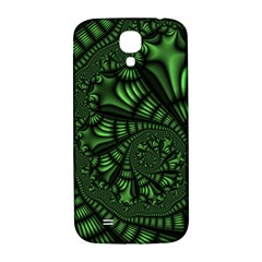 Fractal Drawing Green Spirals Samsung Galaxy S4 I9500/i9505  Hardshell Back Case