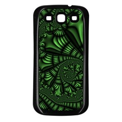 Fractal Drawing Green Spirals Samsung Galaxy S3 Back Case (Black)