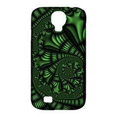 Fractal Drawing Green Spirals Samsung Galaxy S4 Classic Hardshell Case (PC+Silicone)