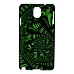 Fractal Drawing Green Spirals Samsung Galaxy Note 3 N9005 Hardshell Case