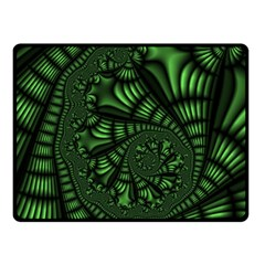 Fractal Drawing Green Spirals Double Sided Fleece Blanket (Small)