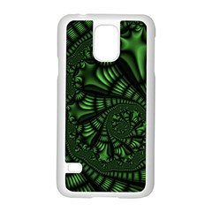 Fractal Drawing Green Spirals Samsung Galaxy S5 Case (White)