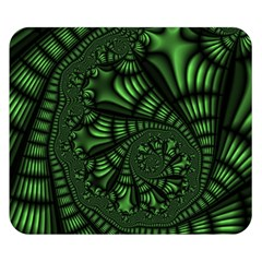 Fractal Drawing Green Spirals Double Sided Flano Blanket (small)