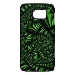 Fractal Drawing Green Spirals Galaxy S6