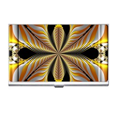 Fractal Yellow Butterfly In 3d Glass Frame Business Card Holders