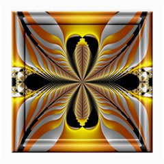 Fractal Yellow Butterfly In 3d Glass Frame Medium Glasses Cloth
