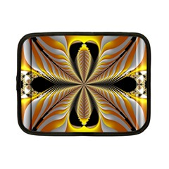 Fractal Yellow Butterfly In 3d Glass Frame Netbook Case (small)