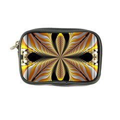 Fractal Yellow Butterfly In 3d Glass Frame Coin Purse
