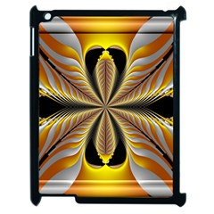 Fractal Yellow Butterfly In 3d Glass Frame Apple Ipad 2 Case (black)
