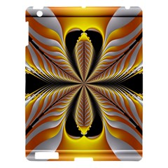 Fractal Yellow Butterfly In 3d Glass Frame Apple iPad 3/4 Hardshell Case