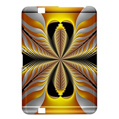 Fractal Yellow Butterfly In 3d Glass Frame Kindle Fire HD 8.9